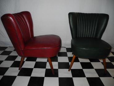 Cocktailsessel 50er leder  rockin-furniture - 50er Cocktailsessel